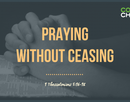 Praying Without Ceasing